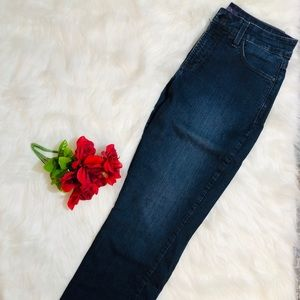 NYDJ dark blue straight leg jeans